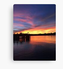 Sunsets in Australia Canvas Print