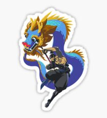 Hanzo Year of the rooster spray Sticker