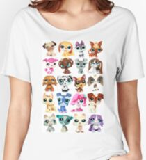 Littlest Pet Shop Dog Collage Women's Relaxed Fit T-Shirt