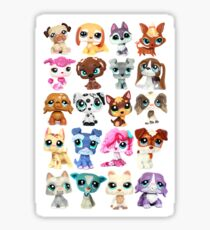 Littlest Pet Shop Dog Collage Sticker