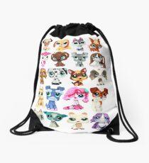 Littlest Pet Shop Dog Collage Drawstring Bag
