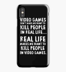 Real Life makes me wanna iPhone Case/Skin