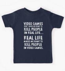 Real Life makes me wanna Kids Tee