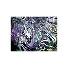 Marbling in black and purple by ExceptionalSilk