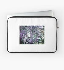 Marbling in black and purple Laptop Sleeve