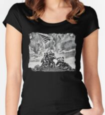 Iwo Jima Women's Fitted Scoop T-Shirt