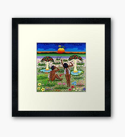 apple-emergence in paradise - drosera weisse Framed Print