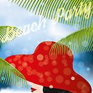 Beach Party - The lady with the red hat by schtroumpf2510