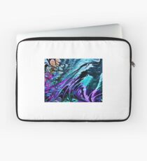 Marbled design in purple turquoise Laptop Sleeve