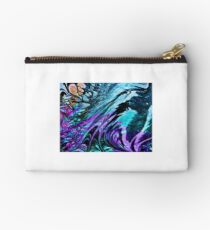 Marbled design in purple turquoise Studio Pouch