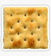 White Saltine Soda Cracker Sticker
