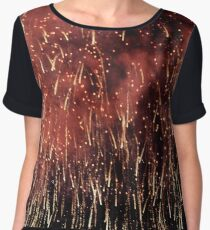 SPARKLING RED FIREWORKS IN THE SKY  Chiffon Top