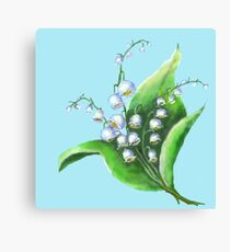 Lilies of the Valley flowers Canvas Print