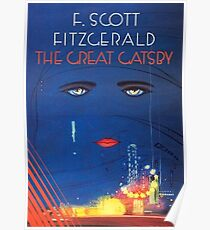 The Great Gatsby By F Scott Fitzgerald Poster