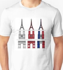 France_icons_outline Unisex T-Shirt