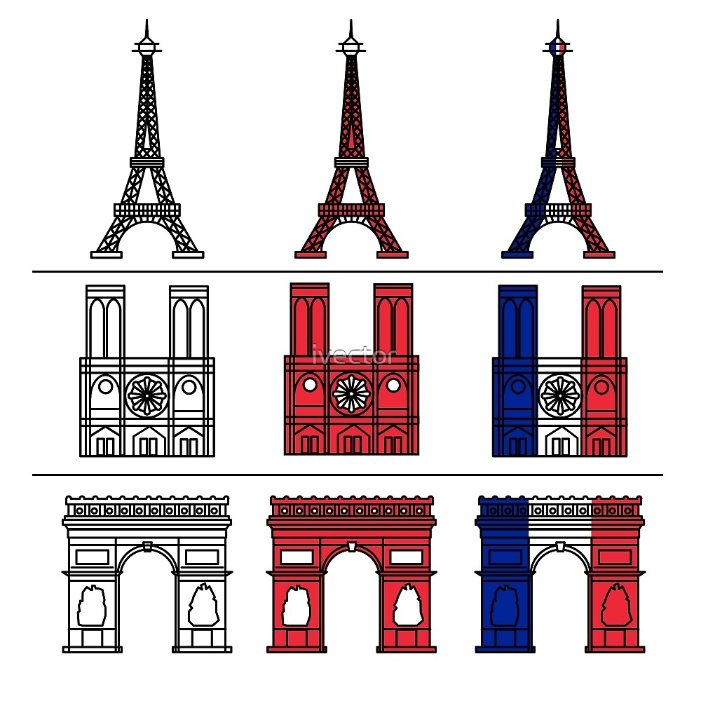 France_icons_outline by ivector