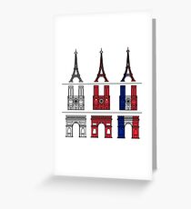 France_icons_outline Greeting Card