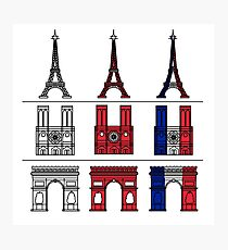 France_icons_outline Photographic Print