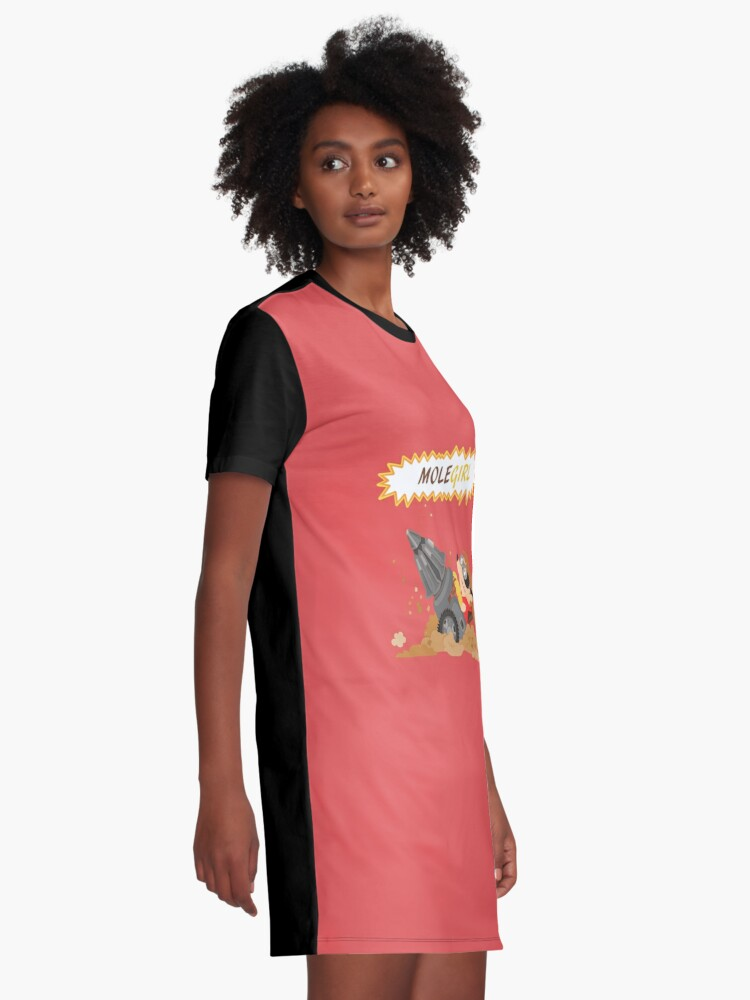 Alternate view of Molegirl Graphic T-Shirt Dress