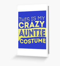 Auntie Costume  Greeting Card