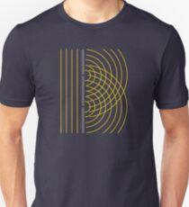 Doppelschlitz-Lichtwellen-Teilchen-Wissenschaftsexperiment Slim Fit T-Shirt
