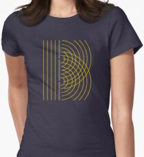 Double Slit Light Wave Particle Science Experiment Women's Fitted T-Shirt