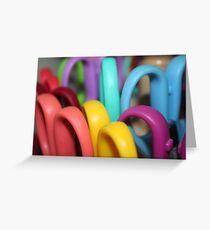 Rainbow Scissors  Greeting Card