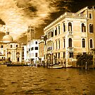 Canal Grande Venice - Gold by dunawori