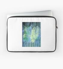 Flowers in blue and green Laptop Sleeve