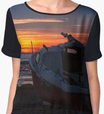 Yacht Sunset - Lytham Women's Chiffon Top