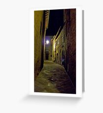 Notte Greeting Card