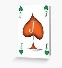 Irish 'Lucky' Jack of Spades by Tony Fernandes Greeting Card
