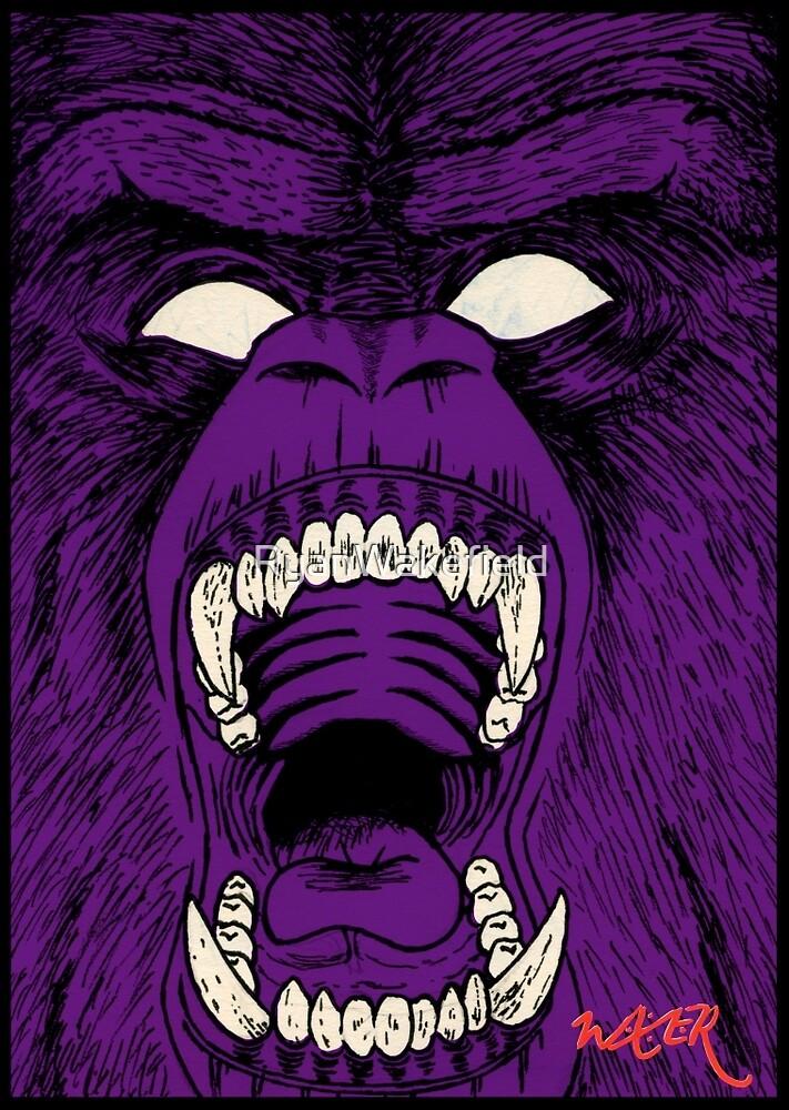 W A K E R Purple Gorilla By Ryanwakefield Redbubble