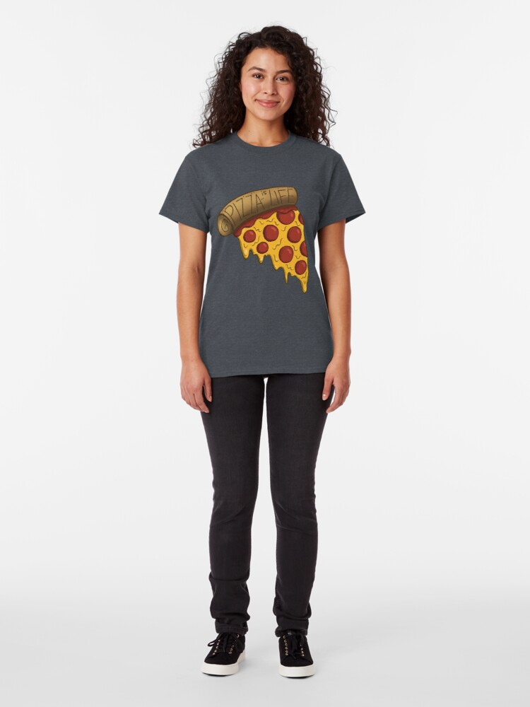 Vista alternativa de Camiseta clásica La pizza es VIDA