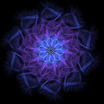 Blue/Purple Mandala by JadaSkyeNichols