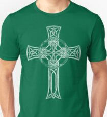 Classic Distressed Irish Gaelic Celtic Cross- st patrick day t shirt Unisex T-Shirt