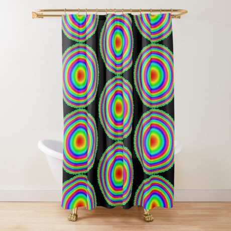 Phyllotaxis-002 Shower Curtain