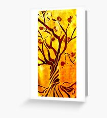 Golden tree of Life Greeting Card
