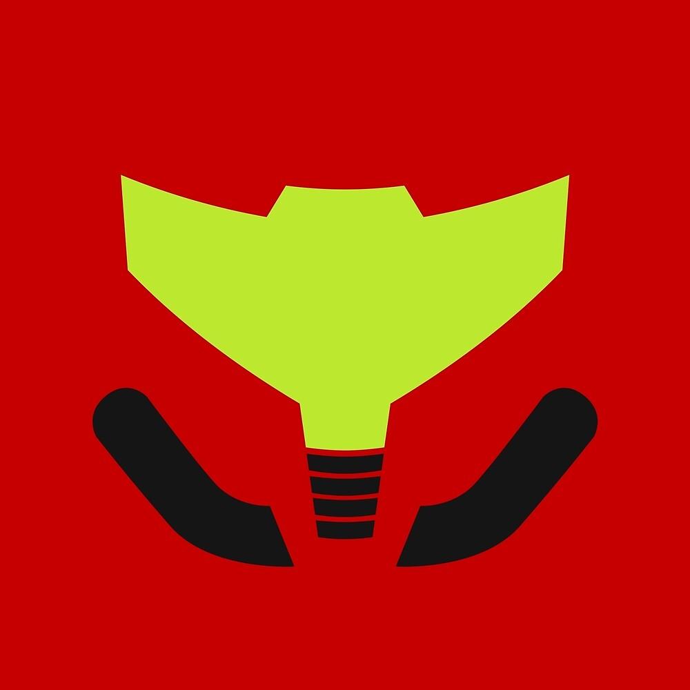 Samus' visor by krls