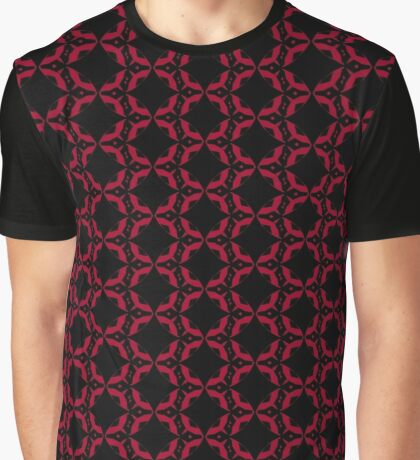 Red and Black Design by Julie Everhart Graphic T-Shirt