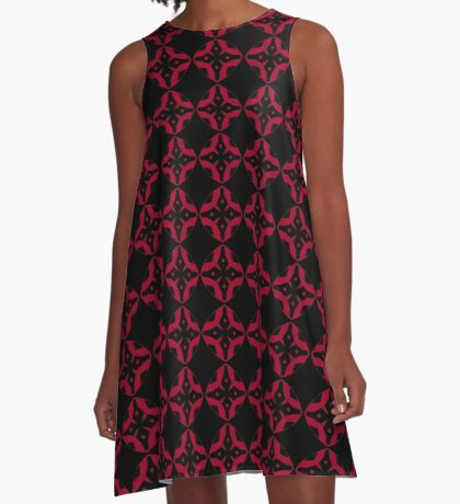 Red and Black Design by Julie Everhart A-Line Dress