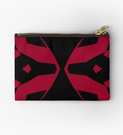 Red and Black Design by Julie Everhart Zipper Pouch