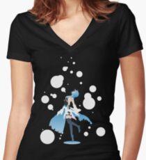 Aqua Kingdom Hearts Women's Fitted V-Neck T-Shirt