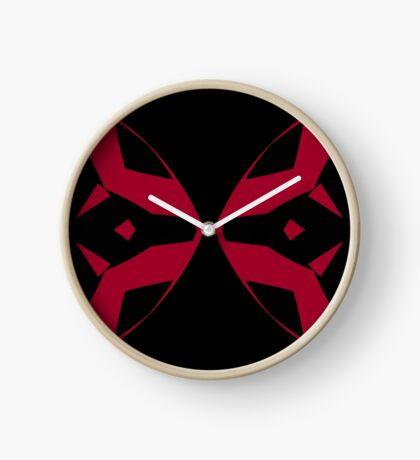 Red and Black Design by Julie Everhart Clock