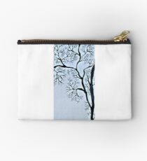 Trees in black and white Studio Pouch