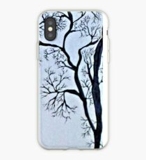 Trees in black and white iPhone Case