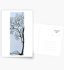 Trees in black and white Postcards