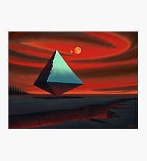 Moon Pyramid Photographic Print