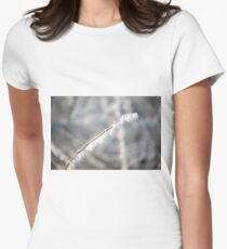 Snowy twigs  Womens Fitted T-Shirt