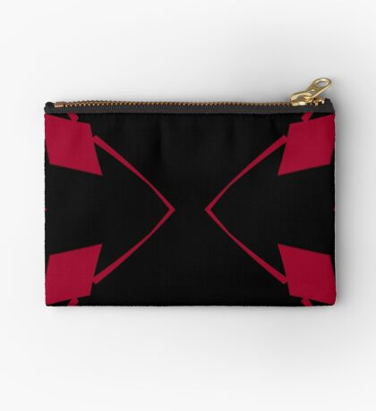 Red and Black Design 2 by Julie Everhart Zipper Pouch